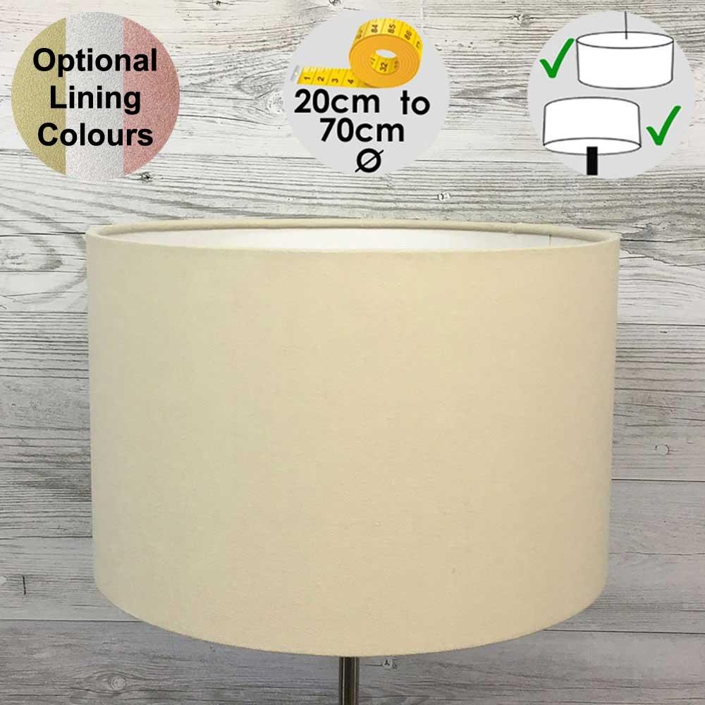 Aura Cream Drum Table Lampshade